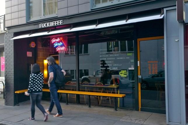 Fuckoffee coffee shop in Bermondsey London