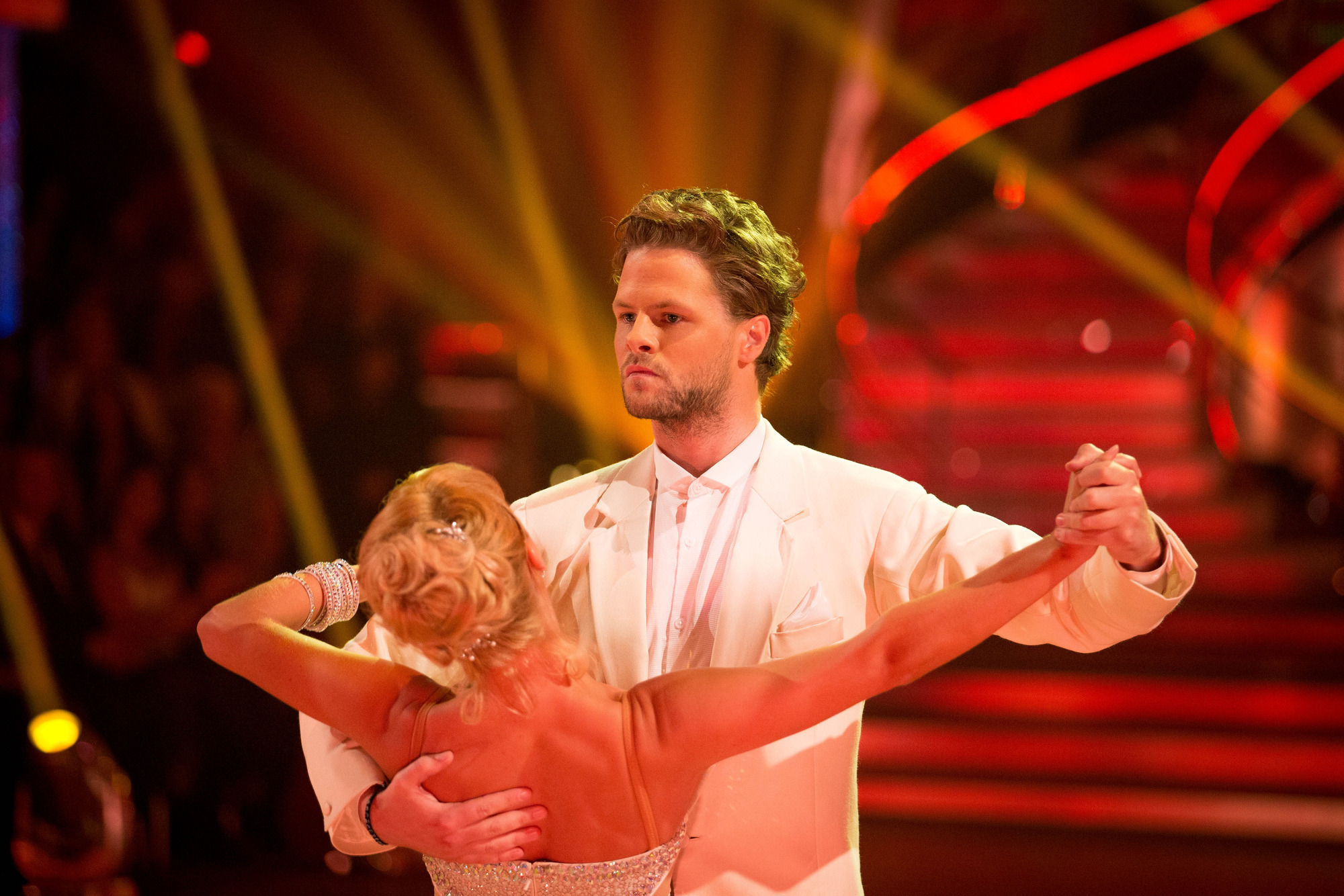 Programme Name: Strictly Come Dancing 2015 - TX: 03/10/2015 - Episode: n/a (No. n/a) - Picture Shows: **LIVE SHOW** Aliona Vilani, Jay McGuiness - (C) BBC - Photographer: Guy Levy