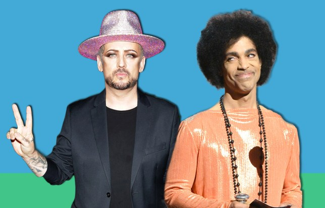 Boy George claims he slept with Prince.... and bring The Voice filming to a grinding halt in the process Credit: REX / Getty Images