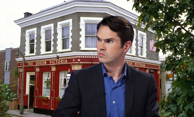 Could Jimmy Carr be the next villain of Walford? Credit: REX / BBC