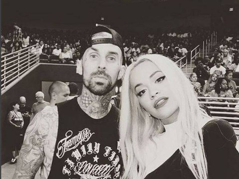 Rita Ora 'dating' Blink 182's Travis Barker and now the pair are inseparable. Aww