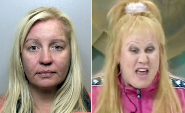 "Victoria Pollard (L) next to her namesake on the TV show Little Britain (R). A female crook called Vicky Pollard has been jailed for 20 months after she swindled £48,000 from her mother-in-law. See NTI story NTIPOLLARD. The 40-year-old used Elaine Pollard's bank details and password to access her Santander account over a three-year period. Pollard - who shares the name of the Little Britain character famed for her ""Yeah but, no but"" catchphrase - forged cheques in her mother-in-law's name. She then took money out of cash machine's to help pay her own bills. The former teacher was only caught out when Mrs Pollard's daughter went to withdraw money from the account to buy food on her behalf and discovered the account was nearly empty. Pollard admitted two counts of theft and was jailed for 20 months at Stoke-on-Trent Crown Court on Monday (5/10)."