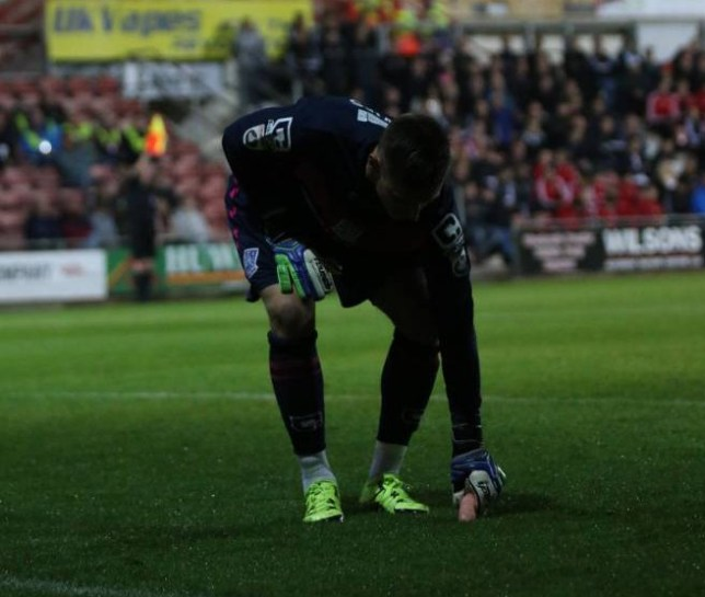 Football fan arrested for throwing 'sex toy' at Wrexham's Racecourse While keeping his Tranmere Rovers side in the game with a string of fine saves, goalkeeper Scott Davies saw the funny side when he picked up what looked suspiciously like a sex aid during the second-half of the 2-2 draw with Wrexham AFC. Credit: Craig Colville/Leader