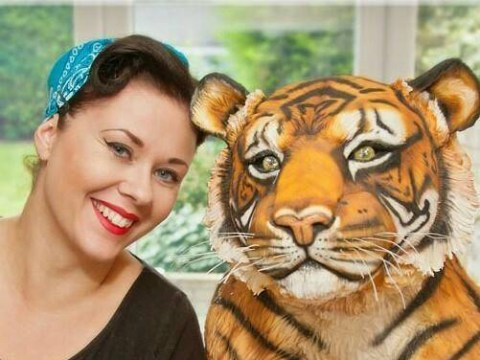 This incredibly lifelike tiger cake looks like it might have you for tea instead
