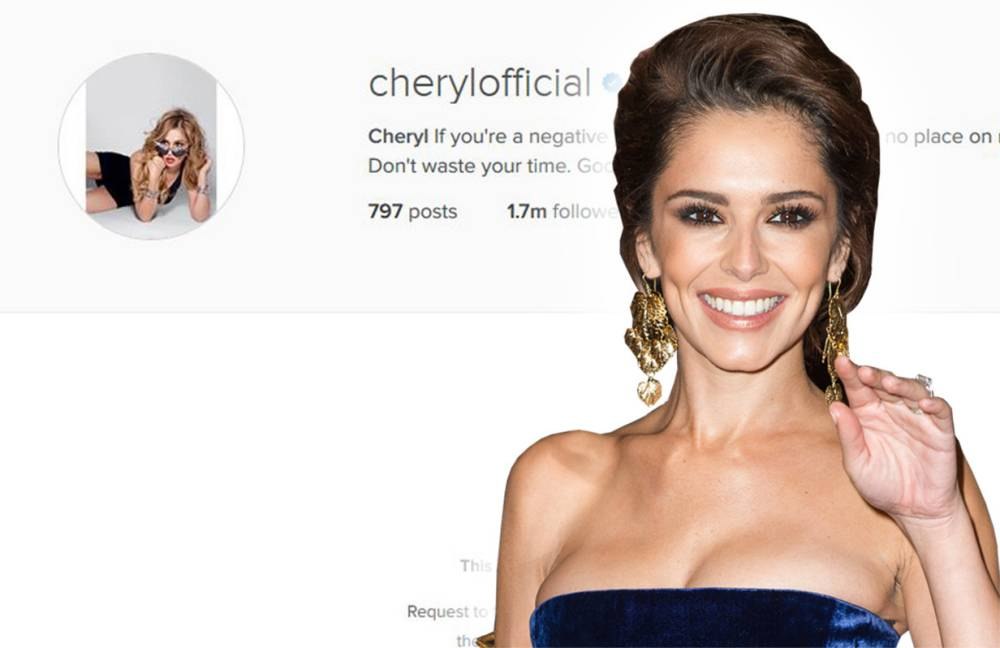You can now only follow Cheryl Fernandez Versini on Instagram if she likes you