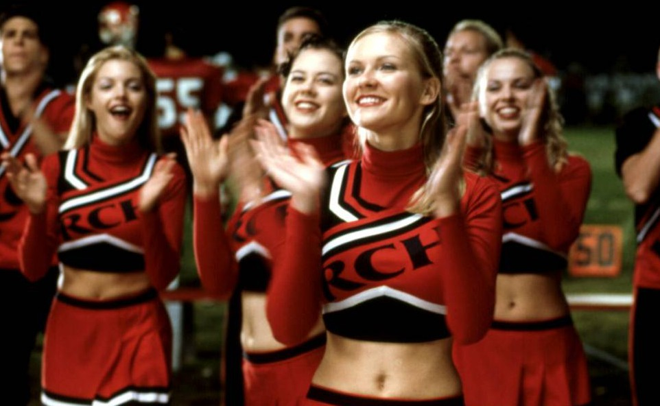 Photo by Everett/REX Shutterstock (415460a) BRING IT ON, Kirsten Dunst, 2000, leading the cheerleaders VARIOUS FILMS