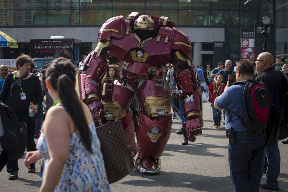And the winner of the best ever Comic Con cosplay is this guy for his Hulkbuster suit
