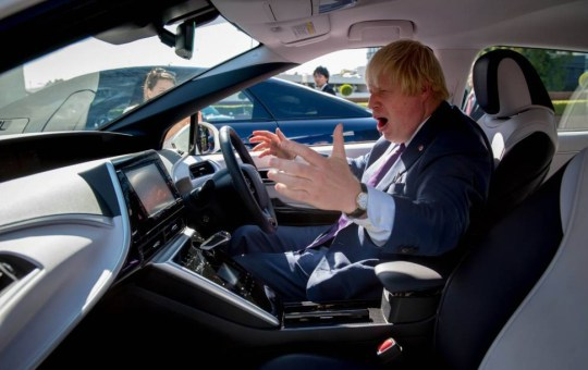 Cyclist Boris Johnson's 7 stages of confusion when put in a