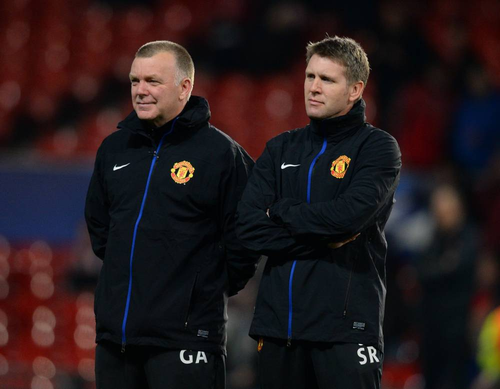 Dec. 10, 2013 - Manchester, United Kingdom - Steve Round assistant manager of Manchester United (R) - UEFA Champions League Group A - Manchester Utd vs Shakhtar Donetsk - Old Trafford Stadium - Manchester - England - 10/12/13 - Picture Simon Bellis/Sportimage.(Credit Image: © Sportimage/Sportimage/Cal Sport Media/ZUMAPRESS.com)