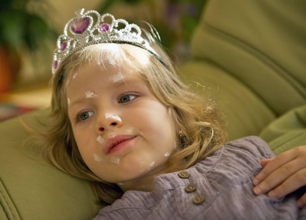 The princess has cickenpox