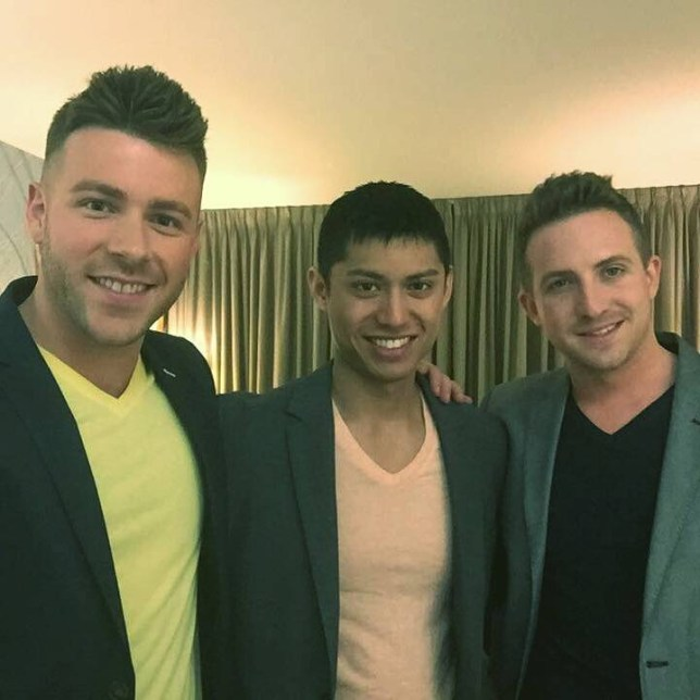 (L-R) Male throuple Shayne Curran, 29, Sebastian Tran, 29, and Adam Grant, 27. Meet Adam, Sebastian and Shayne ñ three hunky guys who are all in a relationship together. The handsome trio live under the same roof, hope to get married and start a family someday. And the throuple are not only are they blessed in the looks department, all three have brains to boot with careers in the medical profession. Before becoming a threesome, Adam Grant and Shayne Curran, met in 2009 and the pair got married two and a half years later. After one year of wedded life, Adam and Shayne met Sebastian Tran in a nightclub in September 2012 and immediately hit it off and started living together in Halifax, Nova Scotia in Canada. Last year, Adam and Shayne got divorced so that Seb could be properly included in their arrangement. Ö PIC BY NEWS DOG MEDIA Ö SEE COPY Ö +44 (0)121 246 1932