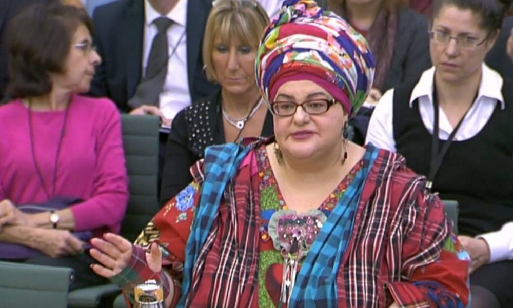 The founder of collapsed charity Kids Company Camila Batmanghelidjh gives evidence to the House Commons Public Administration Committee at Portcullis House, London. PRESS ASSOCIATION Photo. Picture date: Thursday October 15, 2015. Her appearance comes a day after an investigation by BBC's Newsnight and BuzzFeed News uncovered documents raising concerns about the charity's management dating back to 2002. See PA story POLITICS KidsCo. Photo credit should read: PA Wire