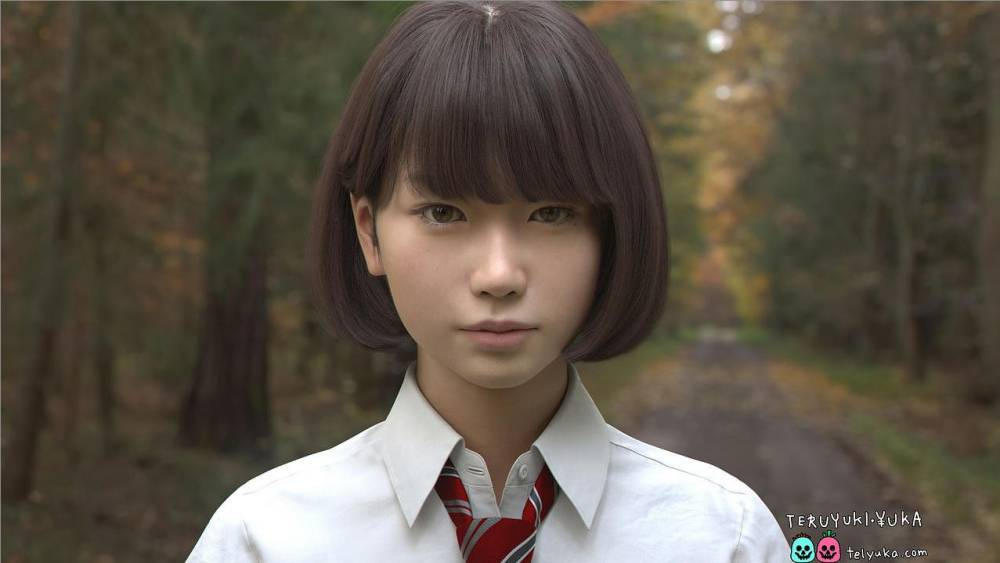 Notice anything odd about this Japanese schoolgirl?