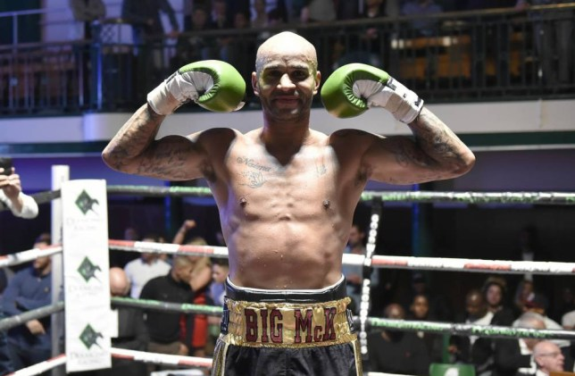 LONDON, ENGLAND - OCTOBER 17: Leon Mckenzie claims the British Super-Middleweight title eliminator after defeating John McCallum. York Hall hosts Championship Boxing on October 17, 2015 in London, England. (Photo by Leigh Dawney/Getty Images)