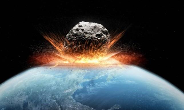 Asteroid impact, artwork