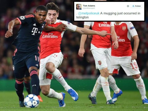 Douglas Costa reported to police for 'mugging' Hector Bellerin during Arsenal v Bayern Munich
