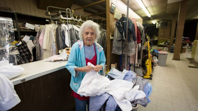 """BUFFALO, N.Y. - Felimina Rotundo works 11 hours day, six days a week at a Buffalo Laundromat and says she has no plans to quit working even though she turned 100 last summer. She tells WGRZ-TV that she got her first job at 15 during the Great Depression and has been working ever since. ADVERTISEMENT Rotundo works from 7 a.m. to 6 p.m. six days a week washing clothes and handling dry cleaning at the College Laundry Shoppe on Main Street in Buffalo. She says she hasn't considered retirement and will continue working as long as her health is good. Rotundo, who hit the century mark in August, says she likes being out and working because it """"gives her something to do."""" She says too many people retire too soon. Her advice to her peers: """"Get out and do some work."""""""