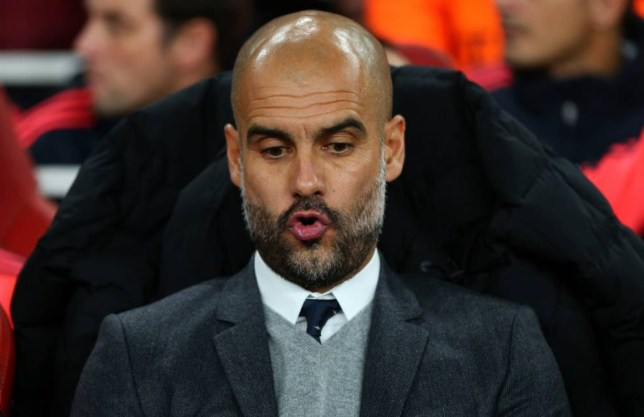 LONDON, ENGLAND - OCTOBER 20: Pep Guardiola manager of Bayern Munich before the UEFA Champions League match between Arsenal and Bayern Munich at the Emirates Stadium on October 20, 2015 in London, United Kingdom. (Photo by Catherine Ivill - AMA/Getty Images)