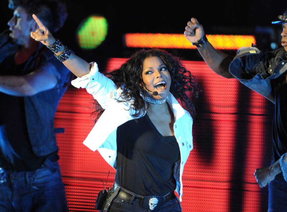 """Singer Janet Jackson performs on her """"Number Ones: Up Close and Personal"""" tour at The Greek Theatre on September 1, 2011 in Los Angeles, California."""