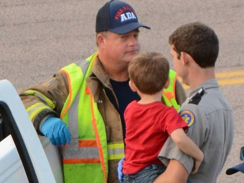 3-year-old boy drives pickup truck across four lanes of traffic after 'drunk' mother falls out
