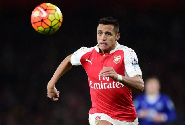 """Arsenal's Alexis Sanchez in action during the Barclays Premier League match at the Emirates Stadium, London. PRESS ASSOCIATION Photo. Picture date: Saturday October 24, 2015. See PA story SOCCER Arsenal. Photo credit should read: Adam Davy/PA Wire. RESTRICTIONS: EDITORIAL USE ONLY No use with unauthorised audio, video, data, fixture lists, club/league logos or """"live"""" services. Online in-match use limited to 45 images, no video emulation. No use in betting, games or single club/league/player publications."""