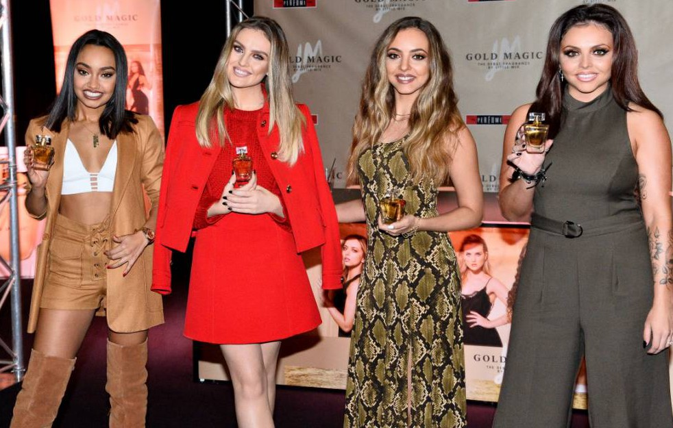 Little Mix - Leigh-Anne Pinnock, Perrie Edwards, Jade Thirlwall and Jesy Nelson Little Mix 'Gold Magic' fragrance launch, Bluewater Shopping Centre, Kent, Britain - 27 Oct 2015