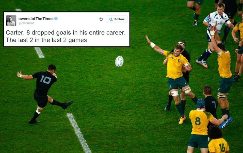 Stat shows New Zealand's Dan Carter is the ultimate clutch kicker