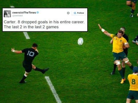 Stat shows New Zealand's Dan Carter is the ultimate clutch kicker