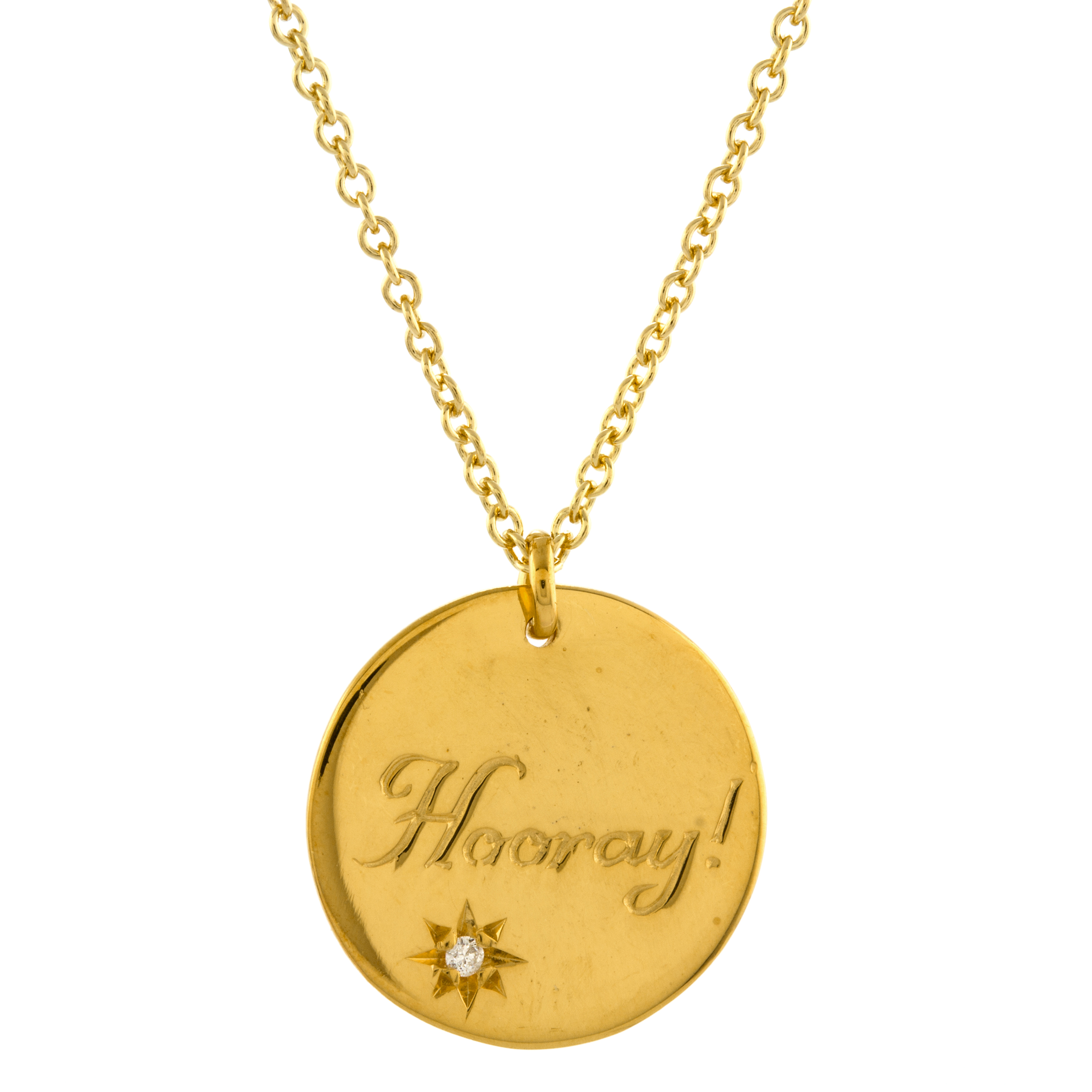 ALEX MONROE HOORAY DISC NECKLACE 180