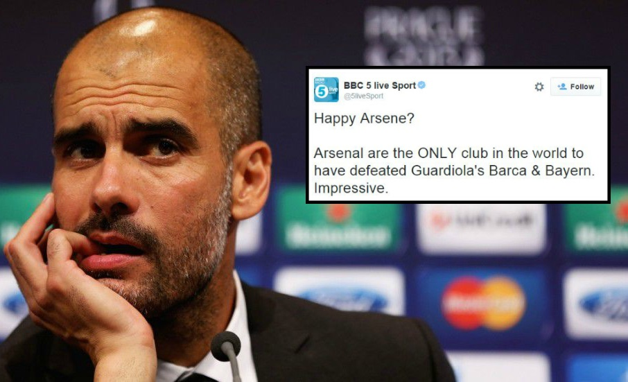 Arsenal become first side to defeat Pep Guardiola's Barcelona and Bayern Munich in the Champions League