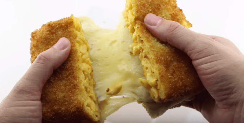 deep fried mac and cheese grilled cheese toastie