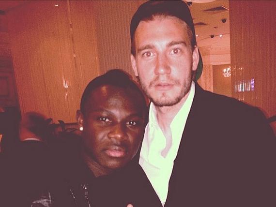 Former Arsenal flops Emmanuel Frimpong and Nicklas Bendtner take trip down memory lane with photo