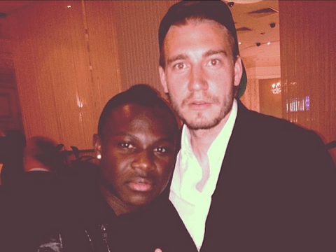 Former Arsenal flops Emmanuel Frimpong and Nicklas Bendtner take trip down memory lane with photo