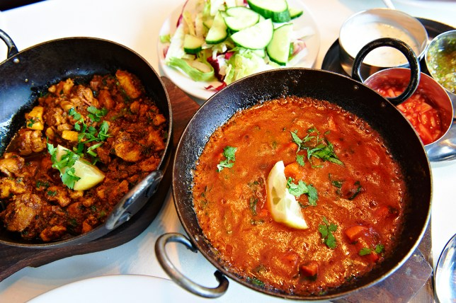 Curry food in England