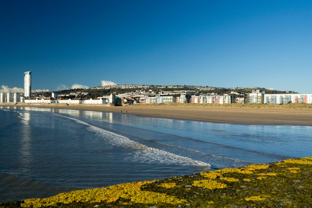 meridian tower and swansea beach