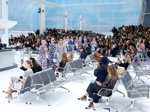Chanel made an entire airport for its Paris Fashion Week show