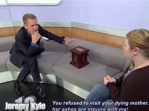 Someone brought their dead mother-in-law's ashes to The Jeremy Kyle Show…