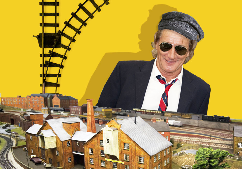 Rod Stewart has a serious obsession with model trains Credit: Getty