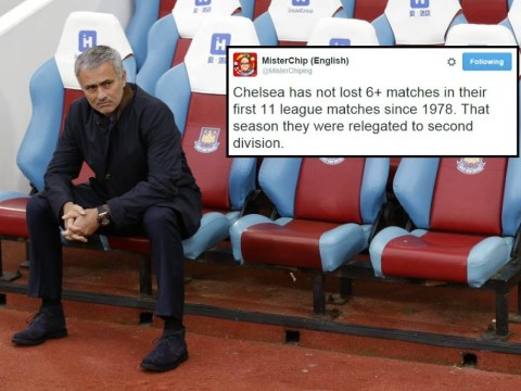 Historic stat shows Chelsea are actually on course to get relegated this season