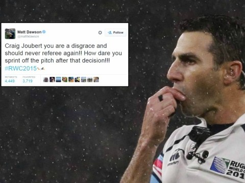 Twitter reacts angrily after referee Craig Joubert's performance in Scotland v Australia at the Rugby World Cup