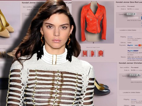 Kendall Jenner is selling her clothes on eBay