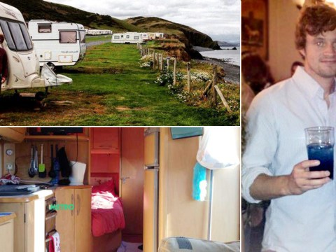 Student ditches university halls to live in caravan by the sea