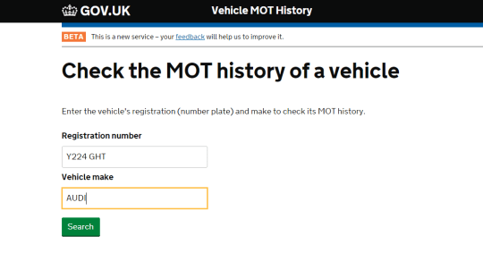 You can now check the MOT history of any UK car online just by putting in  its registration number | Metro News