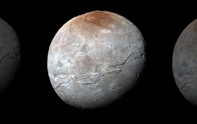 Pluto's largest moon Charon up close