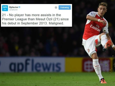 Mesut Ozil has the most assists in the Premier League since his Arsenal debut