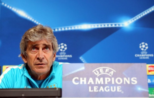 epa04985169 Manchester City's manager Manuel Pellegrini attends a press conference held at the City Football Academy in Manchester, Britain, 20 October 2015. Manchester City faces FC Sevilla in an UEFA Champions League group stage match on 21 October 2015. EPA/NIGEL RODDIS