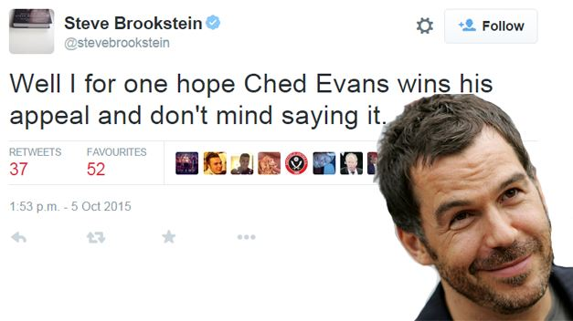 Steve Brookstein wants Ched Evans to win his appeal against his rape conviction