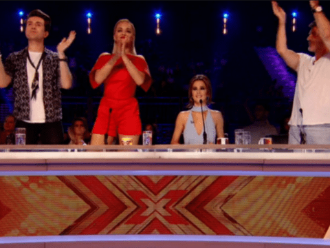 The X Factor judges aren't very good at clapping, apparently…