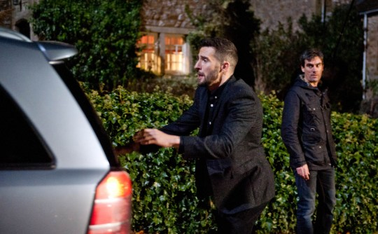 FROM ITV STRICT EMBARGO - No Use Before Tuesday 15 December 2015 Emmerdale - 7388 Friday 1 January 2016 Debbie visits Charity in prison and is taken aback when she compares her daughter's relationship with Ross to her relationship with Cain. Debbie Dingle [CHARLEY WEBB] returns and Cain Dingle [JEFF HORDLEY] is left horrified when she tells him that she's leaving with the kids and Andy Sugden [KELVIN FLETHCER] is left devastated when she gives him an ultimatum. As she's about to set off, Ross Barton [MICHAEL PARR] spots her. Will he let her leave and take all the kids with her? Picture contact: david.crook@itv.com on 0161 952 6214 Photographer - Amy Brammall This photograph is (C) ITV Plc and can only be reproduced for editorial purposes directly in connection with the programme or event mentioned above, or ITV plc. Once made available by ITV plc Picture Desk, this photograph can be reproduced once only up until the transmission [TX] date and no reproduction fee will be charged. Any subsequent usage may incur a fee. This photograph must not be manipulated [excluding basic cropping] in a manner which alters the visual appearance of the person photographed deemed detrimental or inappropriate by ITV plc Picture Desk. This photograph must not be syndicated to any other company, publication or website, or permanently archived, without the express written permission of ITV Plc Picture Desk. Full Terms and conditions are available on the website www.itvpictures.comFROM ITV STRICT EMBARGO - No Use Before Tuesday 15 December 2015 Emmerdale - 7383 Monday 28th December 2015 Paddy Kirk [DOMINIC BRUNT] meets up with Tess and is touched when she gives him a Christmas present. She suggests he takes her to the cinema. Later, Paddy is sickened by a close shave when he has to cover to Rhona Goskirk [ZOE HENRY]. Picture contact: david.crook@itv.com on 0161 952 6214 Photographer - Amy Brammall This photograph is (C) ITV Plc and can only be reproduced for editorial purposes directly in 