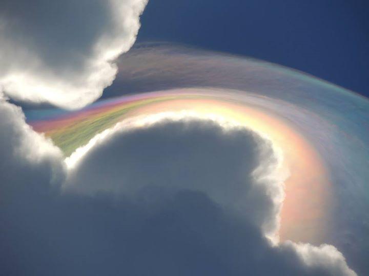 A spectacular 'fire rainbow cloud' has been seen over Jamaica